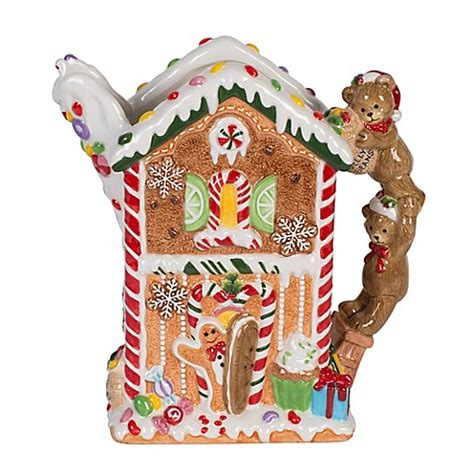 christmas gingerbread house to buy buy fitz and floyd 174 reagan white house christmas gingerbread pitcher from bed bath beyond