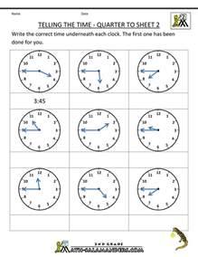 time telling worksheets for 3rd graders new calendar