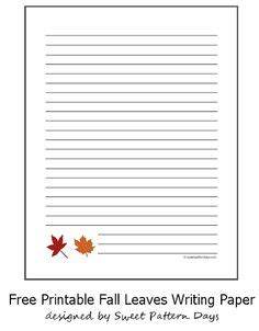 printable fall writing paper with lines printable fall themed writing paper stationery