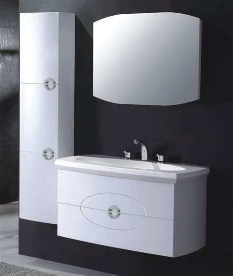 china high gloss white color round shape pvc bathroom