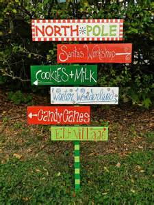 Backyard Luau Party Ideas The North Pole Sign Christmas Outdoor Sign Wood North Pole