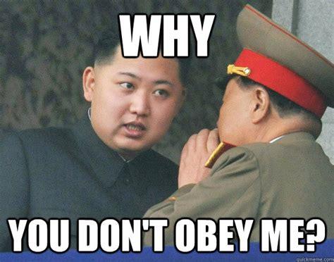 Obey Meme - hungry kim jong un memes quickmeme