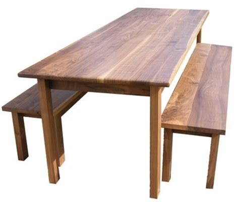 walnut dining table and bench solid american black walnut dining table and 2 benches