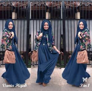 Setelan Baju Wanita Navy setelan baju muslimah wanita 3 in 1 model terbaru
