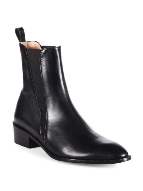 robert clergerie xavier leather ankle boots in black for