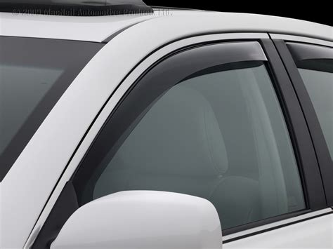 view images of weathertech side window deflectors