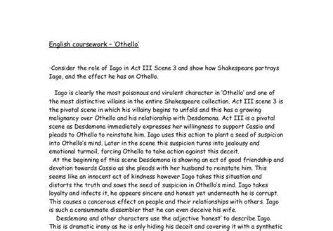 Othello Essay On Iago by Othello Iago Essay Pgbari X Fc2