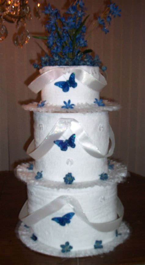 Bridal Shower Idea Towel Wedding Cake by 63 Best Towel Cakes Images On Baby