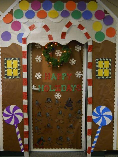 gingrbread house on school door gingerbread house door decorating contest search holidays house doors