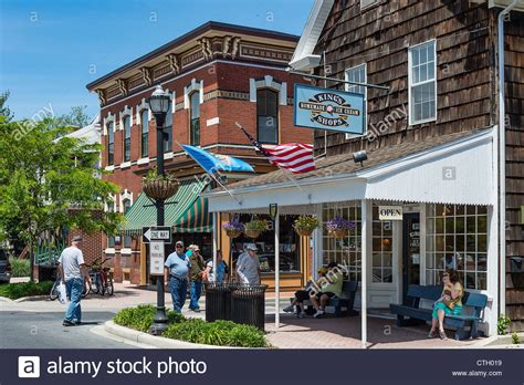 quaint town quaint historic town of lewes delaware usa stock photo