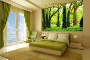 Landscape Bedroom Custom Size Large 3d Trees Landscape Tree Forest Mural
