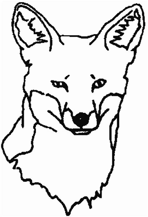 coloring page of a fox face fox coloring pages coloringpages1001 com