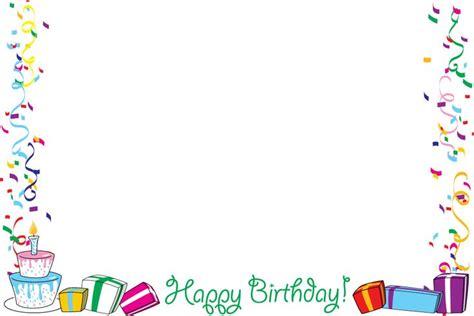 Inspiring Free Birthday Frames And Borders Happy Birthday Border Frames Borders Corners Free Printable Birthday Borders And Frames
