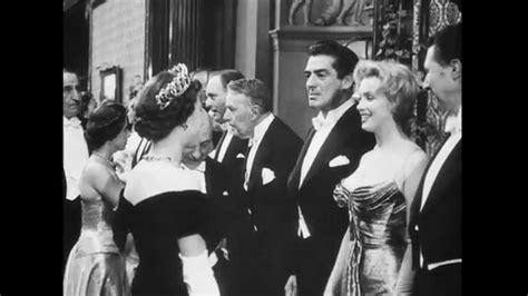 queen film london quot queen greets film stars quot london 10 30 1956 youtube