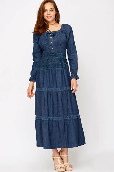 Denima Maxy Dress denim maxi dress all dress