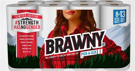 Who Makes Brawny Paper Towels - the brawny paper towel brand replaces iconic logo