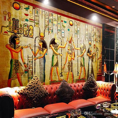 Retro Home Decor Wholesale egyptian wall painting vintage photo wallpaper custom 3d