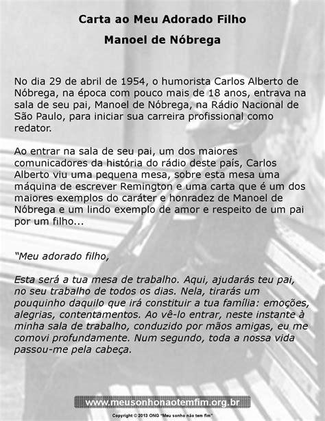 Carta ao Meu Adorado Filho - Manoel de Nóbrega by ONG Meu