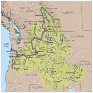 washington canada map columbia river