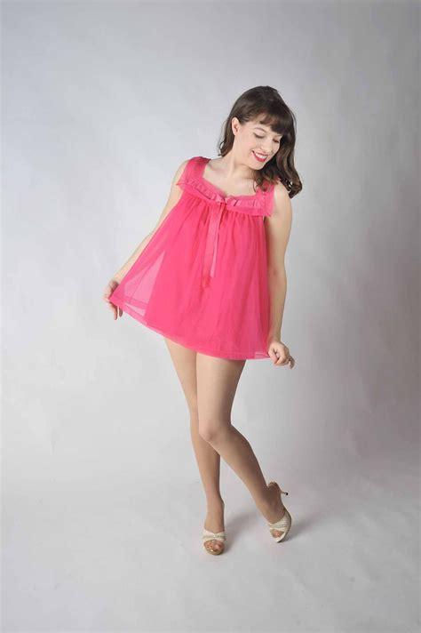 Mimi Baby Retro vintage 1960s nightgown ultra mini babydoll