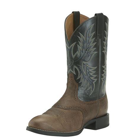 ariat 11 quot heritage stockman cowboy boots wicker black