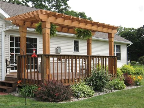 How To Build A Pergola Over A Concrete Patio Photos Of Pergolas
