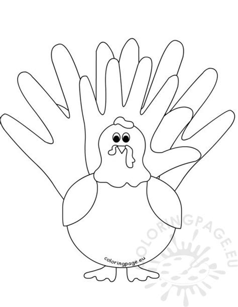 turkey hand coloring page coloring page