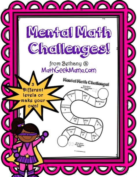 mental math challenges free