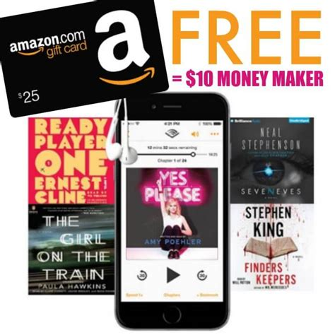 Amazon Gift Card Audible - free 25 amazon gift card with audible gold 10 money maker