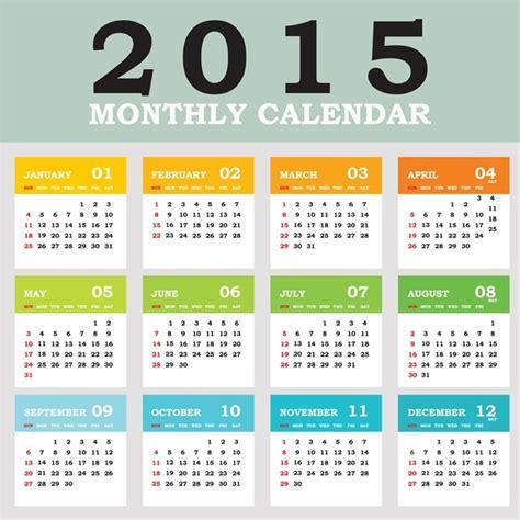 graphic design calendar 2015 2015 grid calendar creative design vector free vector in