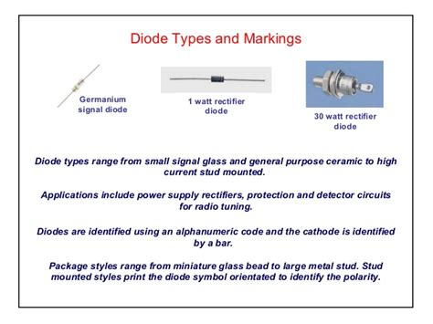 types of diodes and their application pdf diode types and applications 28 images basics and types of diodes techno genius diodes