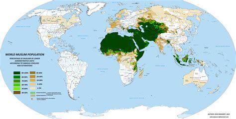nel mondo islam nel mondo la mappa dettagliata di dove 232 pi 249