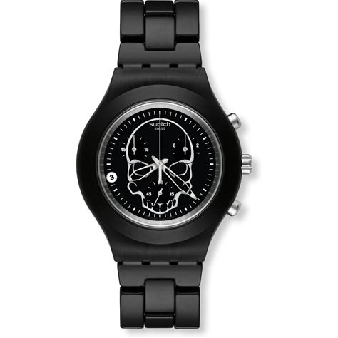 Swatch We Black swatch svcf4001ag blooded black skull