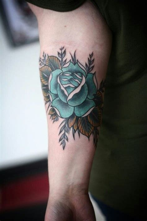 aqua flower tattoos and photo beautiful turquoise flower ink