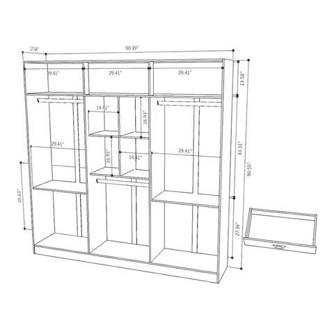 Wardrobe Drawing Software by Europe White Modern Armoire Wardrobe Eurway Modern