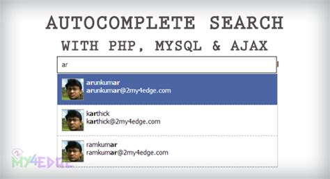 Search Php Autocomplete Search Using Php Mysql And Ajax 2my4edge
