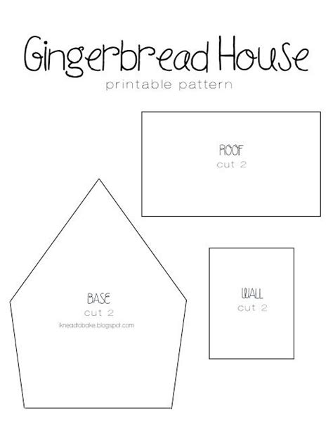 pattern for large gingerbread house i knead to bake gingerbread recipe printable house