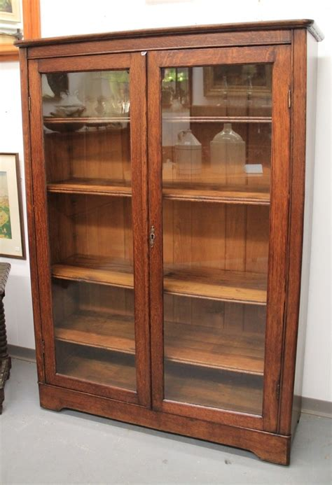 Oak Bookcases With Doors Bookcase With Glass Door Barrister Bookcase With Glass Door In Brown 9124 Barrister Bookcase