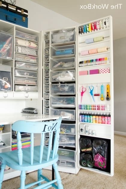 Picture Of Craft Room Tour Craft Cabinet Awesome And