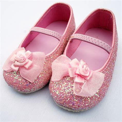 decorar zapatillas con glitter pink bow glitter shoes from dresses for gorgeous girls
