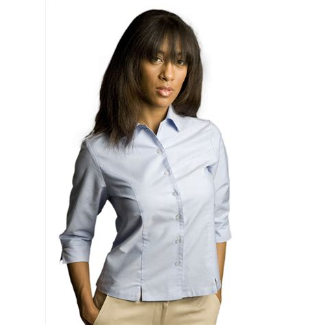 S Sleeve Blouses Uk by S Oxford Style 3 4 Sleeve Blouse Executive Apparel
