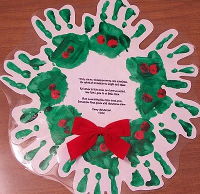 christmas tree handprint poem 15 and easy crafts the frugal navy