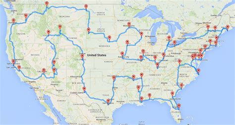 map a road trip a map for the best road trip across the usa the circular