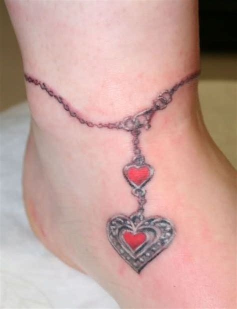 ankle chain tattoo designs and cross ankle bracelet