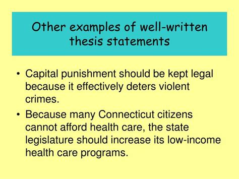well written thesis ppt writing a thesis statement powerpoint presentation