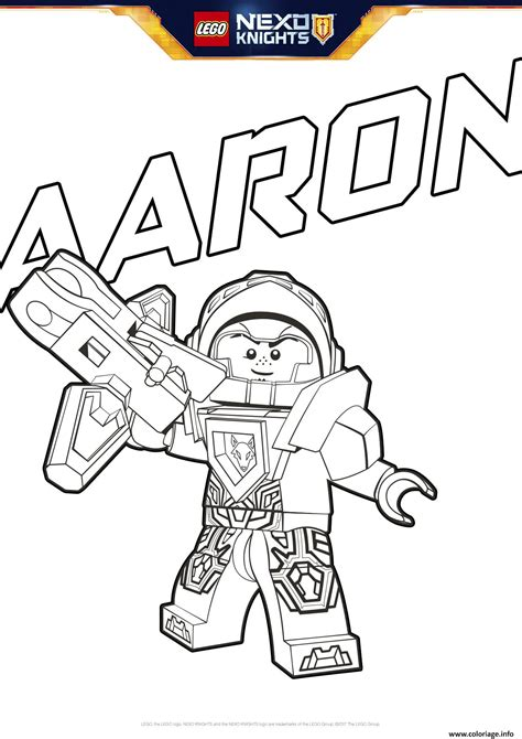 nexo knights coloring pages aaron coloriage lego nexo knights aaron dessin