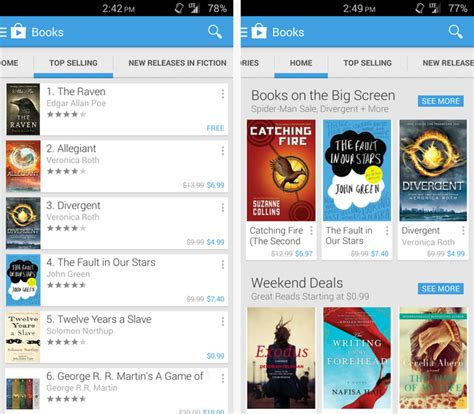 free book apps for android reading a book on your android device play books makes it easy