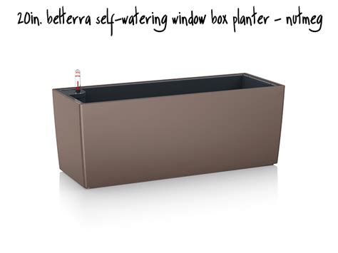 Self Watering Planter Box by Belterra Self Watering Window Box Planters Nutmeg Self