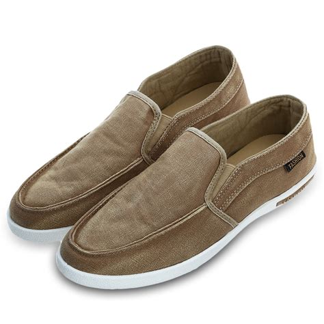 mens summer loafers new summer canvas breathable slip on sneakers loafers mens