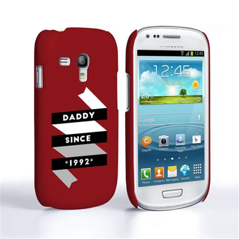 caseflex daddy custom year samsung galaxy s3 mini case red